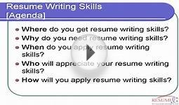 Resume Writing Skills (Why You Need It)
