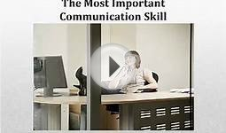 The Most Important Business Communication Skill