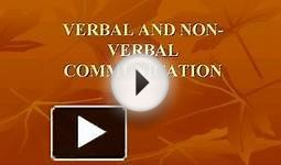 VERBAL AND NONVERBAL COMMUNICATION