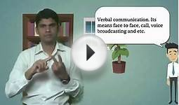Verbal communication and non verbal communication